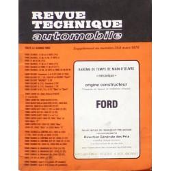 Temps de réparation Ford années 60 et 70 (1ère édition)