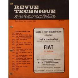Temps de réparation Fiat années 60 et 70 (2ème édition)