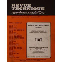 Temps de réparation Fiat années 60 et 70 (1ère édition)