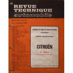 Temps de réparation Citroën années 60 et 70 (2ème édition)