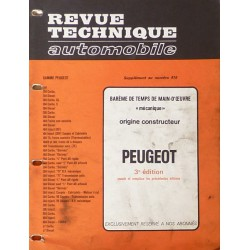 Temps de réparation Peugeot années 60 à 80 (3ème édition)
