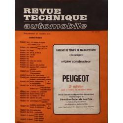 Temps de réparation Peugeot années 60 et 70 (2ème édition)