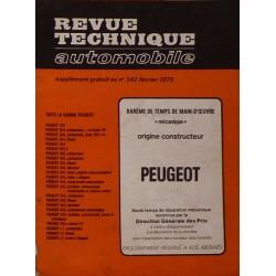 Temps de réparation Peugeot années 60 et 70 (1ère édition)