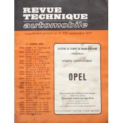 Temps de réparation Opel années 60 et 70 (1ère édition)