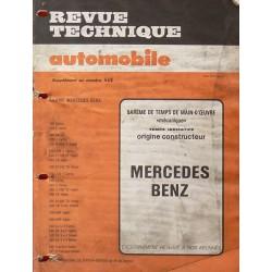 Temps de réparation Mercedes Benz années 70 et 80 (1ère édition)