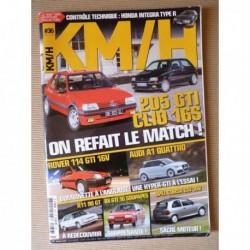 KM/H n°36, Citroën BX GTI 16, Rover 114 GTI, Mini 1275 GT, Audi A1 quattro, Renault 11 90GT, Opel Corsa GSI 16V