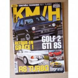 KM/H n°41, Ford Escort RS Turbo, Fiat Punto HGT, Abarth 1000 OT, Peugeot 208 GTI, Mitsubishi Lancer Evo VIII, VW Golf GTI