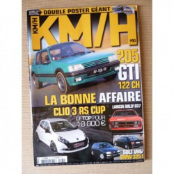 KM/H n°60, Peugeot 205 GTI, CG 1300, Ford Cortina GT E, Renault Clio RS Cup, Nissan 300ZX Z32, Lancia Montecarlo, Rally 037