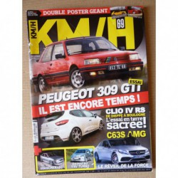 KM/H n°69, Peugeot 309 GTI, Nissan 300ZX Z31, Daihatsu YRV, Mercedes C63S, Opel Vectra IS3, Renault Clio RS 220 EDC Trophy