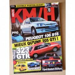 KM/H n°70, Mazda 323 GT-R, Opel Kadett Rallye, Audi RS2, Peugeot 106 S16, PGO Cévènnes, Renault RS, BMW 320 Turbo
