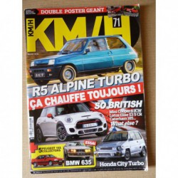 KM/H n°71, Honda City Turbo II, Renault 5 Alpine Turbo, Mini Cooper S F56, Lotus Elise S Club, Caterham 165, BMW 635 Csi