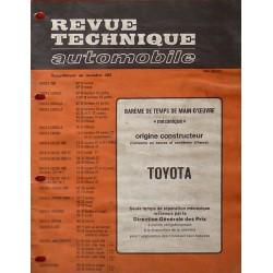 Temps de réparation Toyota années 60 et 70 (1ère édition)