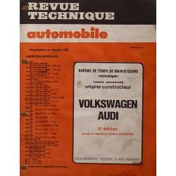 Temps de réparation Volkswagen, Audi années 70 et 80 (3ème édition)