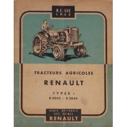 Renault R3042 et R3043, notice d'entretien