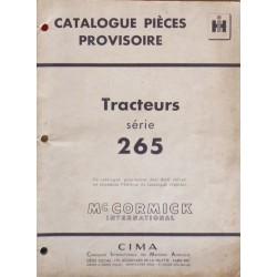 McCormick International F265, catalogue de pièces