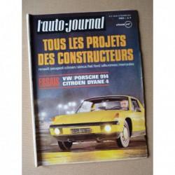 Auto-Journal n°3-70, Porsche 914/4, Citroën Dyane 4, Automodule, Sterckman 415 GTA
