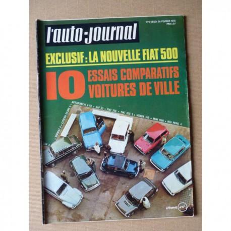 Auto-Journal n°4-70, Honda N360, Fiat 850 500, Citroën Dyane, Autobianchi A112, DAF 33, NSU Prinz 4, R4, Mini 1000, Sim'4