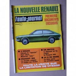 Auto-Journal n°8-70, Fiat 125 Spécial, Citroën D Spécial, Peugeot 304, Maserati Indy, Renault 16TS, Peugeot 504 injection