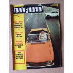 Auto-Journal n°10-70, Peugeot 304 coupé cabriolet, Mercedes C111, BSH kit R8 Gordini, Sprite Major, Targa Florio 1970