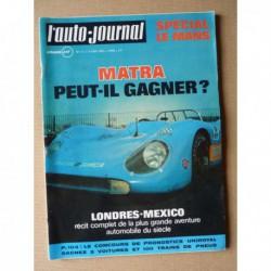 Auto-Journal n°11-70, Citroën Dyane 4 et 6, 2cv4 et 2cv6, Fiat 128, 24h du Mans 1970