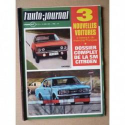 Auto-Journal n°12-70, Ford 26M Taunus P7, Citroën SM, Renault 12 Autobleu, Triumph Stag, Antem Plexi 350