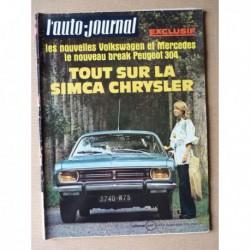 Auto-Journal n°15-70, Simca 1100 Spécial, Opel Kadett Caravan (B), Ligier JS1, Voisin 7C 10cv, Chaparral 2J, Luquet