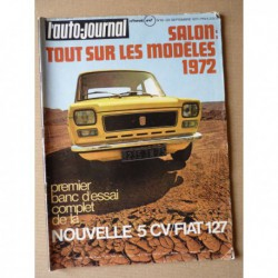Auto-Journal n°19-71, Fiat 127, Renault 6TL Autobleu, Caravans International Sprite 400, BSA 250 Gold Star