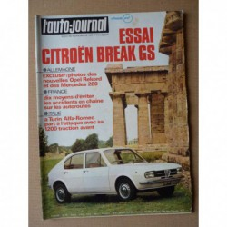 Auto-Journal n°23-71, Citroën GS 1015 break, Fiat 128 Rally, Ligier JS2, Frank Valverde