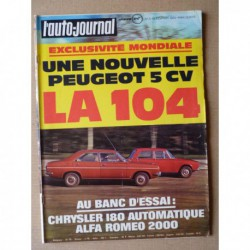 Auto-Journal n°3-72, Chrysler 180 automatique, Alfa Romeo 2000 berlina, NSU Ro80, Gruau 440 Tahiti, Harley 1200