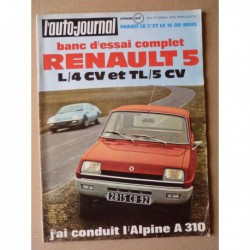 Auto-Journal n°4-72, Renault 5L 5TL, Mercedes L206D, Alpine A310, Bugatti 35C, Grand Star BT43E, Bill Mitchel