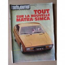Auto-Journal n°7-73, BMW 520i E12, Renault 5TL, Matra-Simca Bagheera, Audi-NSU, Peugeot 504L, Mercedes 300SL, Digue 390