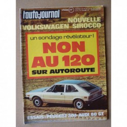 Auto-Journal n°4-74, Peugeot 204, Audi 80 GT, Volkswagen Scirocco, Ford Capri II, Ferrari BB, Sprite Alpine C, Renault 17