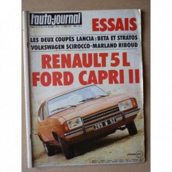 Auto-Journal n°5-74, Ford Capri II GT, Renault 5L, Lancia Stratos, Beta coupé, Marland Riboud,Voisin C24 Carène