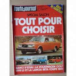 Auto-Journal n°17-74, Volkswagen Golf LS mk1, Lancia Beta Coupé 1800, Jensen Interceptor, Excalibur SS, Panther J72