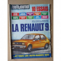 Auto-Journal n°21-74, Volvo 244 GL, Lancia Stratos, Ford Capri II, Opel Manta, Fiat 128 LS, Datsun Cherry 120A