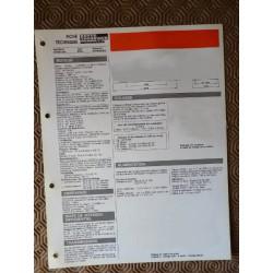 Fiche technique Nissan Bluebird 1600 (T72), 1598 cm3 CA16S 84ch, 7cv