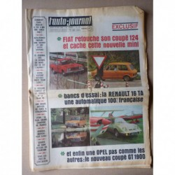 Auto-Journal n°479, Saab 99, Opel 1900 GT, Renault 16 TA, General Motors 511 512, Simca 1100 Moteur Moderne