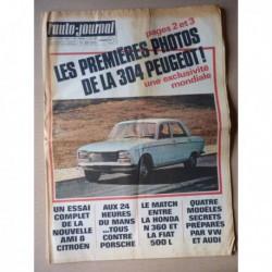 Auto-Journal n°480, Citroën Ami 8, Autobianchi Primula Coupé S, Peugeot 304, Fiat 500L vs. Honda N360