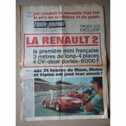 Auto-Journal n°482, Mercedes 220D w115, BMW 1600 Constantin, Fiat 130, Renault 2, vitesse et poids