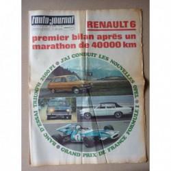 Auto-Journal n°483, Renault 6, Triumph 2.5 PI, Moteur Wankel, Opel Admiral et Diplomat B
