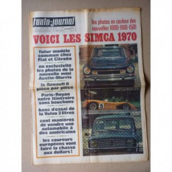 Auto-Journal n°484, Renault 6, Volvo 164, gamme Simca 1970, Giovanni Agnelli Fiat