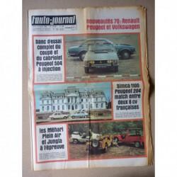 Auto-Journal n°485, Peugeot 504 coupé cabriolet, Fiat Jungla, Citroën Méhari, Renault 4 Plein Air, Simca 1100, Peugeot 204