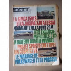 Auto-Journal n°486, Simca 1501 Spécial, Jaguar XJ6, Mercedes C111, Mazda R100, Zeltweg 1969, Porsche 917