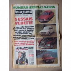 Auto-Journal n°488, Peugeot 504 GT Autobleu, Citroën DS21 ie, D Spécial, Autobianchi A111, Renault 12, Ferrari 312