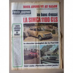 Auto-Journal n°489, Fiat 130, Simca 1100 GLS, Tour Auto 1969
