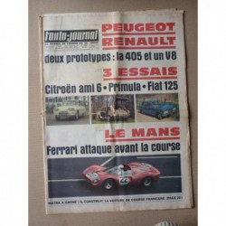 Auto-Journal n°427, Citroën Ami 6 break, Autobianchi Primula, Fiat 125, Matra F1