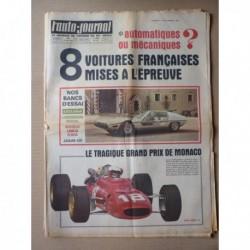 Auto-Journal n°429, Jaguar 420, Simca 1000 140 Autosprint, Lancia Flavia 1800, Lamborghini Marzal, Matra-Ford F2