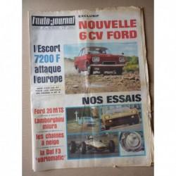 Auto-Journal n°443, Ford Taunus 20M TS P7, Lamborghini Miura P400, Ford Escort mk1, Denis Hulme, DAF F3 variomatic