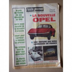 Auto-Journal n°444, Renault 4 1968, Rambler AMC Javelin SST, Opel GT, Jean Pierre Beltoise