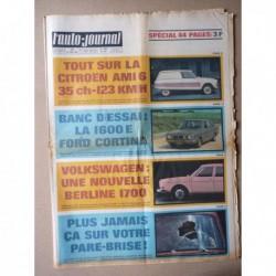 Auto-Journal n°455, Ford Cortina 1600E, Citroën Ami 6, Citroën Méhari, Renault 4 Plein Air, Volkswagen 1700, Ferrari 330